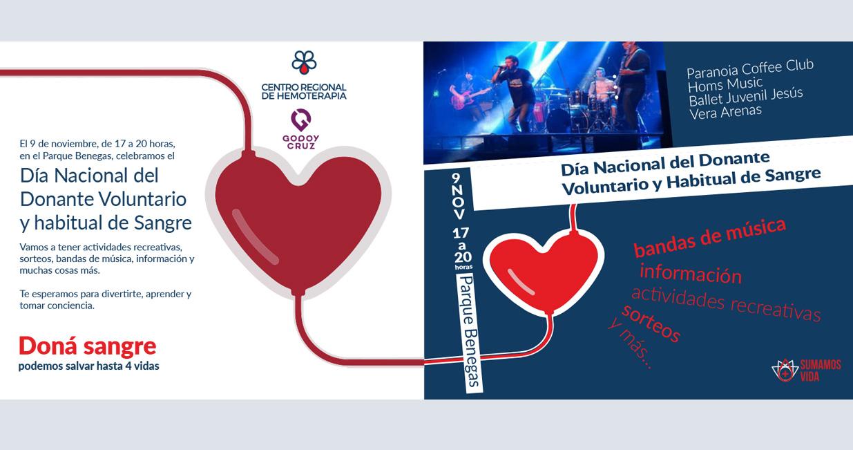 9 de noviembre. Día Nacional del Donante Voluntario y Habitual de Sangre